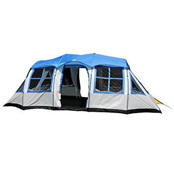 Tahoe Gear Prescott 12-Person 3-Season Tent Blue/White | TGT  sc 1 st  Amazon.com & Amazon.com : Tahoe Gear Prescott 12-Person 3-Season Tent Blue ...