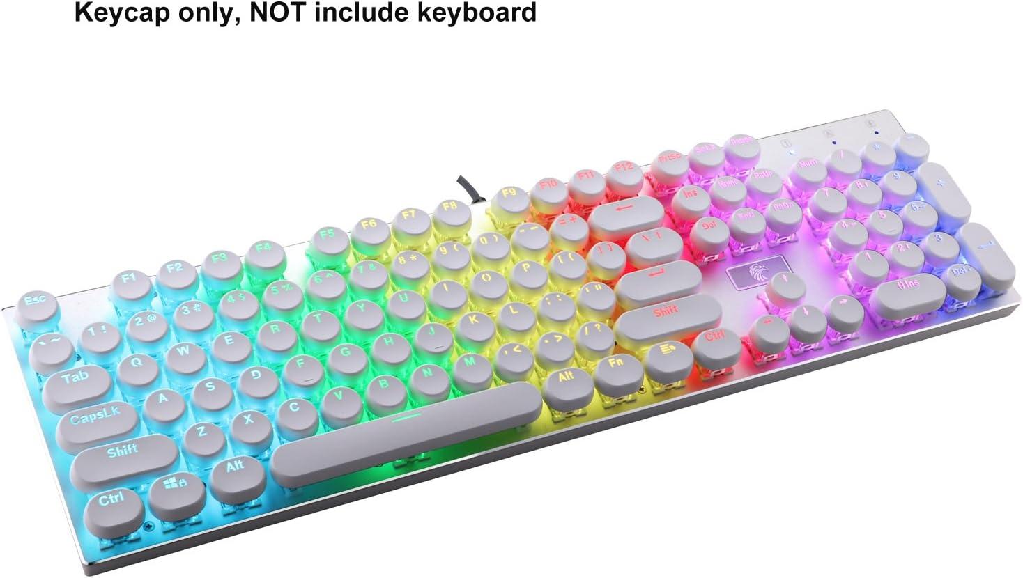 set de 104 teclas retro pbt para teclado mecanico BLANCAS
