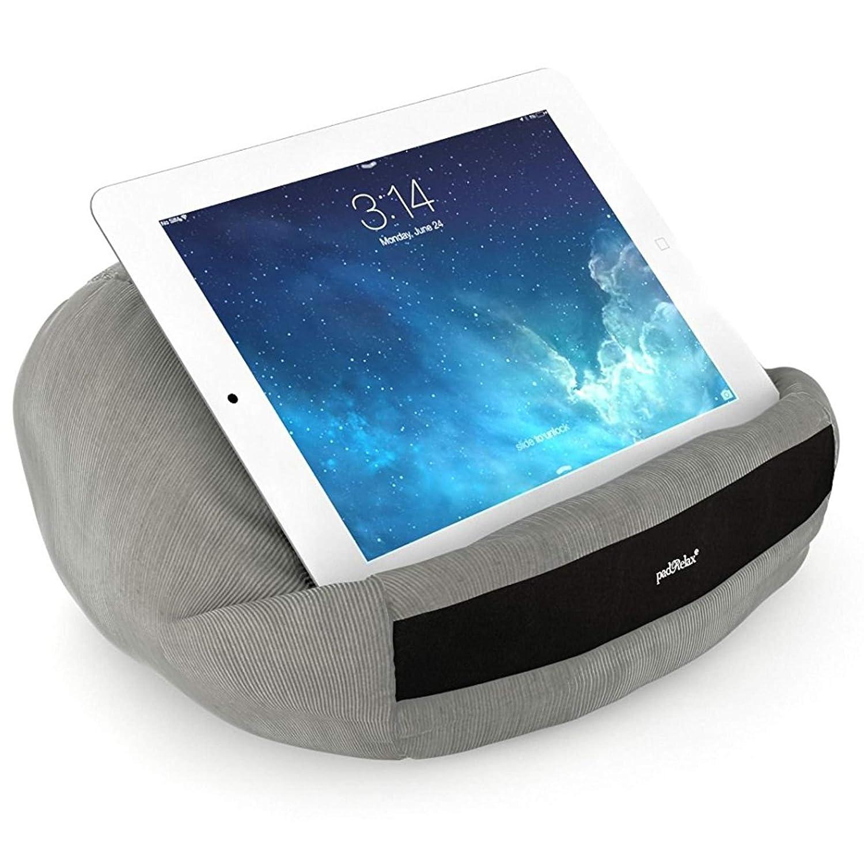 padRelax casual Gris cojín de iPad para 10 pulgadas, Made in Germany, para cama, playa y cada iPad, Samsung Galaxy Tab, eReader, ...