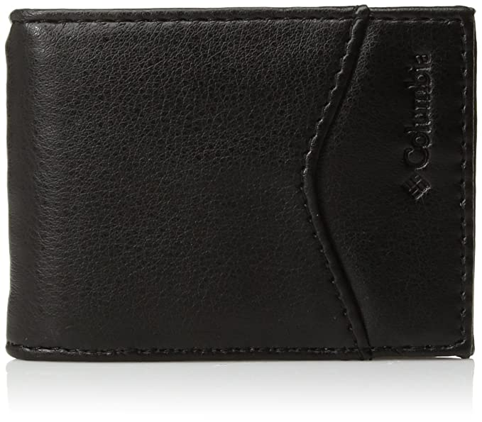 09ad5bc2910c Columbia Men's Leather Slim Front Pocket Wallet With Id Window