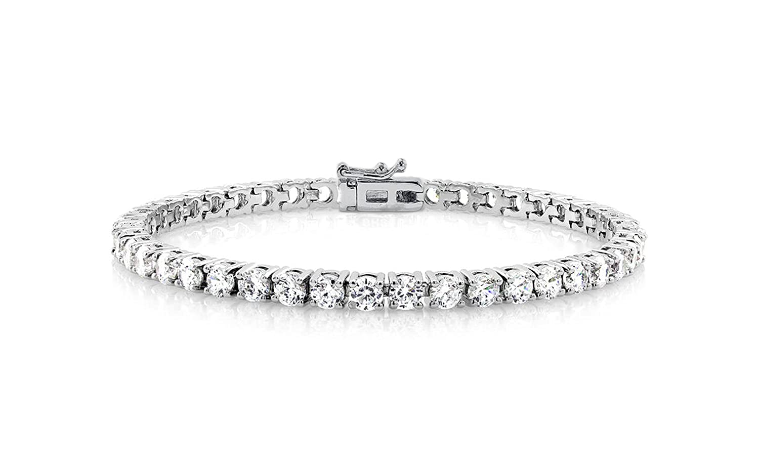 NYC Sterling Cubic Zirconia Classic Tennis Bracelet TBGP