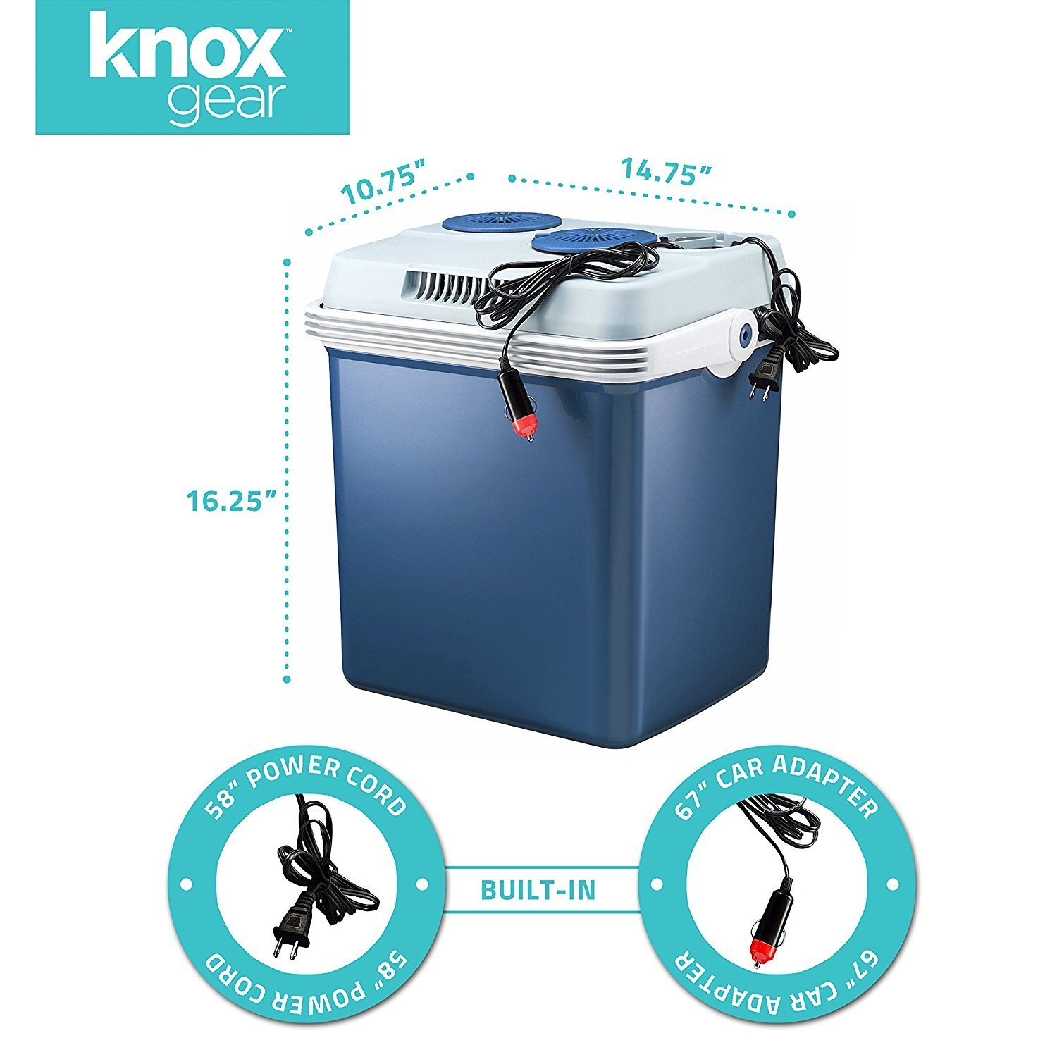 Amazon.com: Knox Gear 34 Quart Electric Cooler/Warmer with Dual AC ...