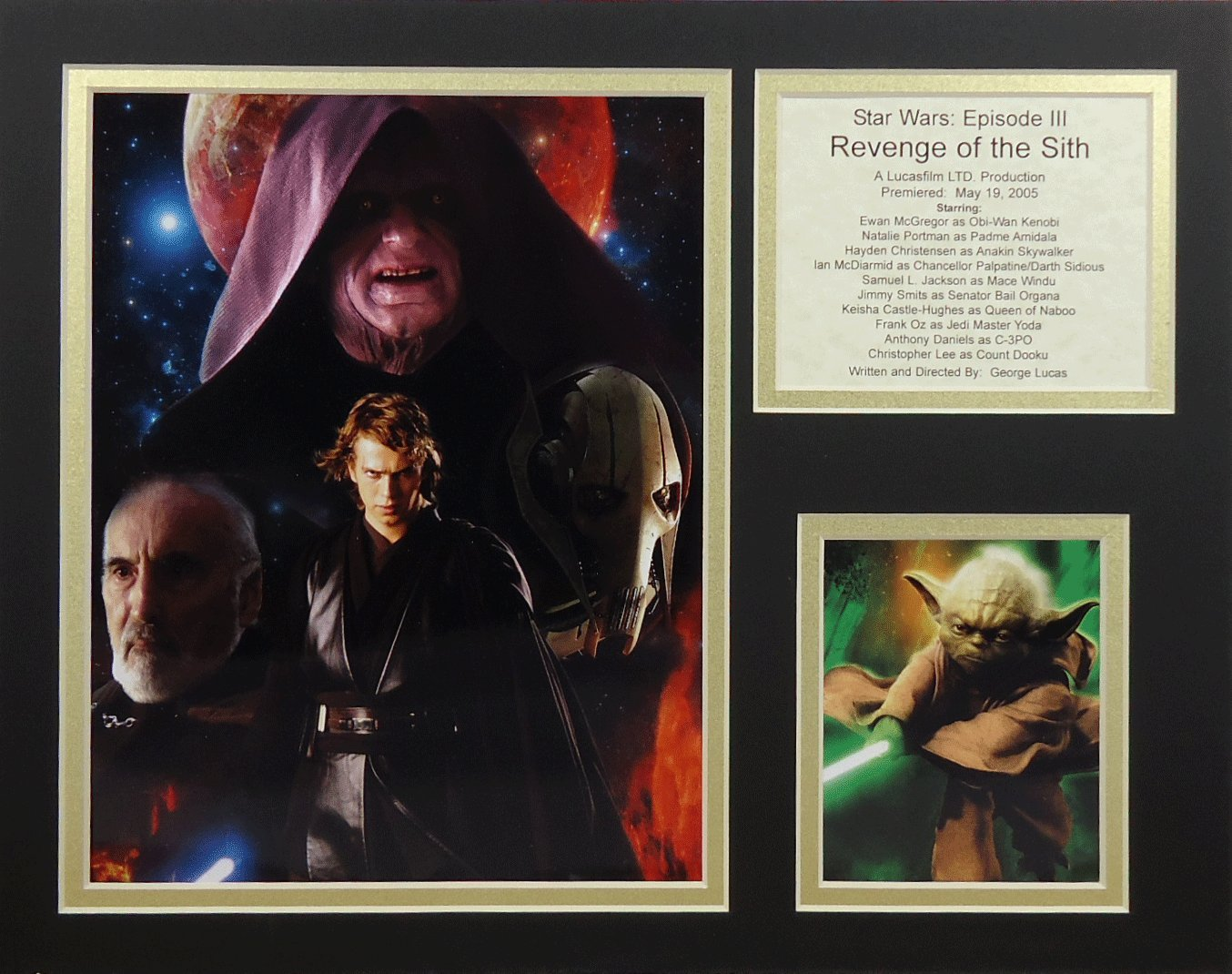 """Star Wars: Revenge of the Sith - 11"""" X 14"""" Unframed Matted Photo Collage By Legends Never Die, Inc."""