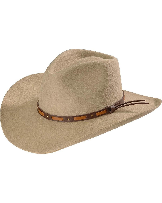 Stetson Men's Hutchins 3X Wool Cowboy Hat Stone 7 3/8