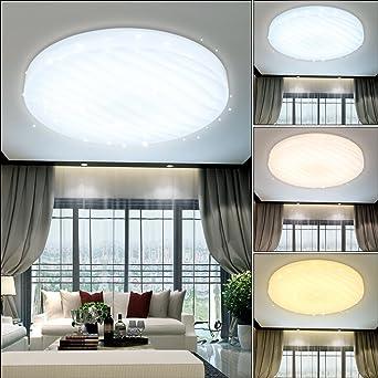 12W LED Deckenleuchte Wellig Sternenhimmel Mit Farbwechselfunktion ...