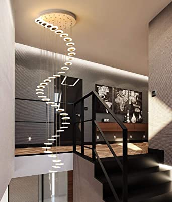 Escalera Pasillo Lámpara colgante Luz colgante de techo redonda Moderno Creativo LED Blanco cálido Sala de estar Comedor Araña Loft Hall Hotel Tienda Decoración Lámpara,42lights: Amazon.es: Iluminación