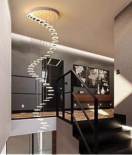 LED Araña de la escalera Esfera de Vidrio Luces colgantes Moderno Creativo Sala Lámparas colgantes Villa Lámpara de techo Dúplex plano Espiral Escalera Largo Colgante de luz 10-luz G4,Transparent: Amazon.es: Iluminación