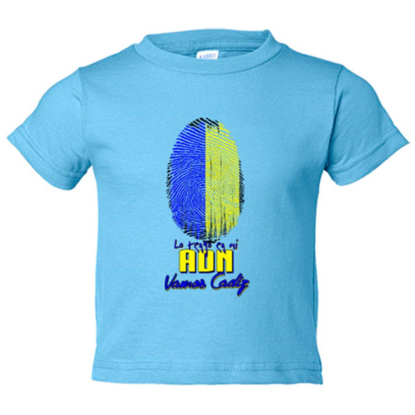 Camiseta niño lo tengo en mi ADN Cádiz fútbol - Amarillo, 3-4 años: Amazon.es: Bebé