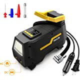 VacLife Tire Inflator for Home (110V) and Car (12V), AC/DC Portable Air Compressor for Car Tires, Bicycles and Other Inflatab
