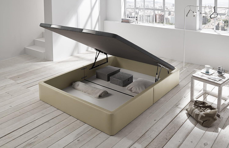 Living Sofa CANAPÉ ABATIBLE Alta Gama Gran Capacidad Montaje Y Transporte Gratuito con Esquinas Redondeadas Color BEIG 135 x 190 (Todas Las Medidas) / NO SE ...