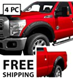 Premium Fender Flares for 1999-2005 Ford F250 F350 Super Duty Styleside models | Smooth Matte Black Paintable Pocket Bolt-Riveted Style 4pc