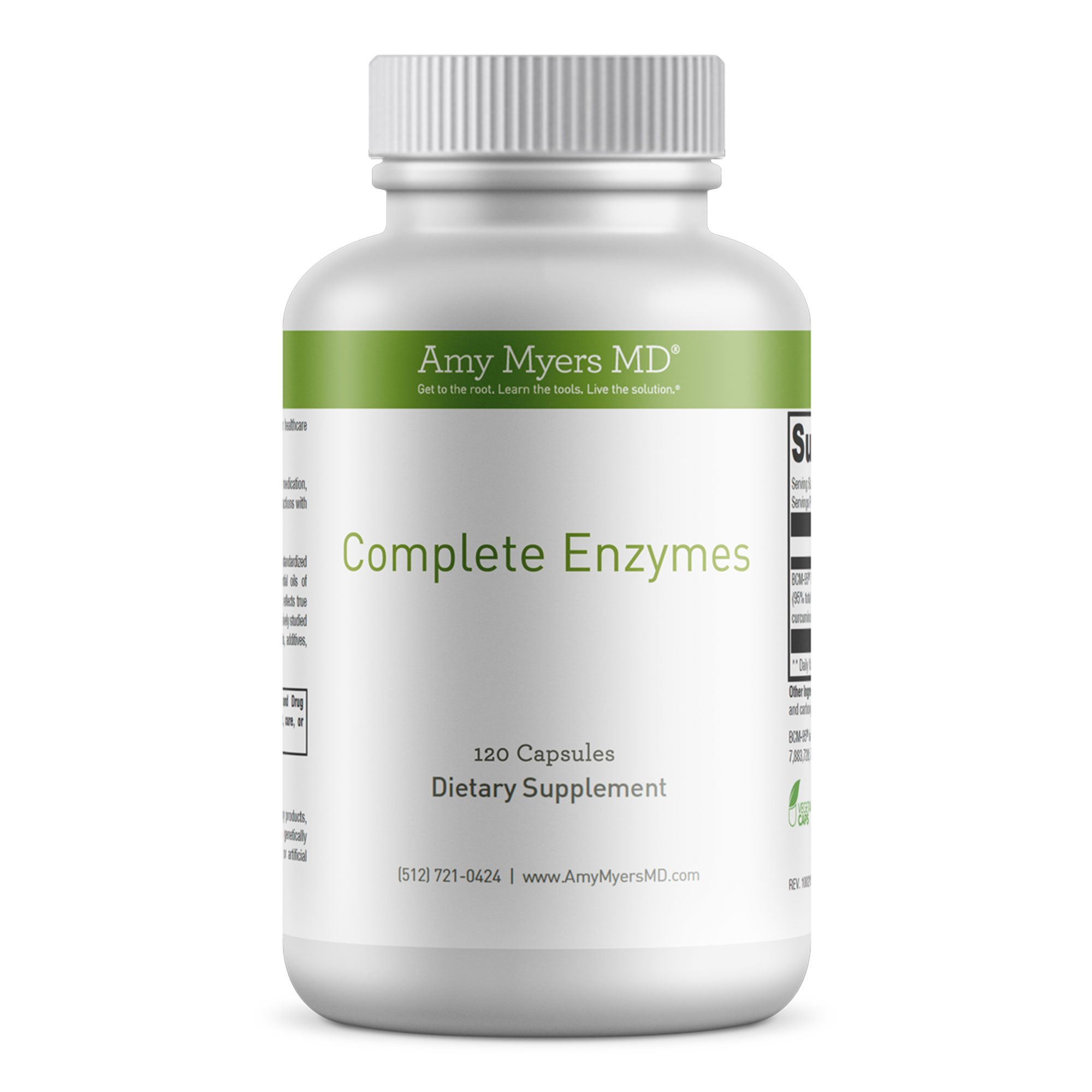Dr. Amy Myers Digestive Enzymes – 19 Enzymes to Support IBS, Leaky Gut, Bloating, Constipation, Gluten Exposure - Amylase, Lactase, Lipase, Alkaline Protease, Sucrase + More – 120 Vegetarian Capsules
