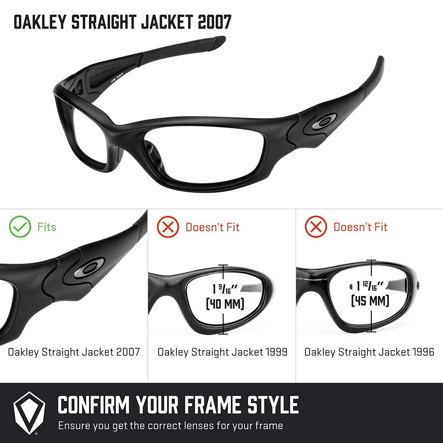 cfd2c3a433 Revant MaxGrip Rubber Kit for Oakley Straight Jacket (2007) - Black at  Amazon Men s Clothing store