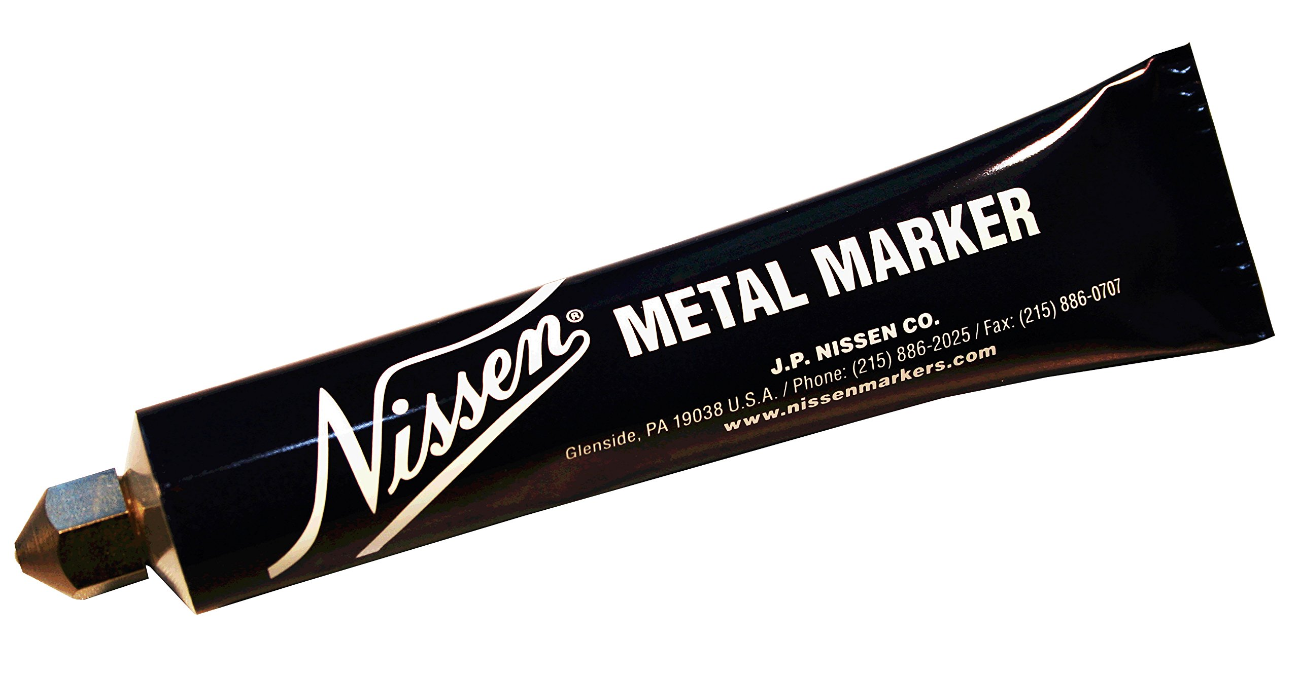 Nissen MMBKB Metal Ball Point Marker, 3/16'' Tip, Black