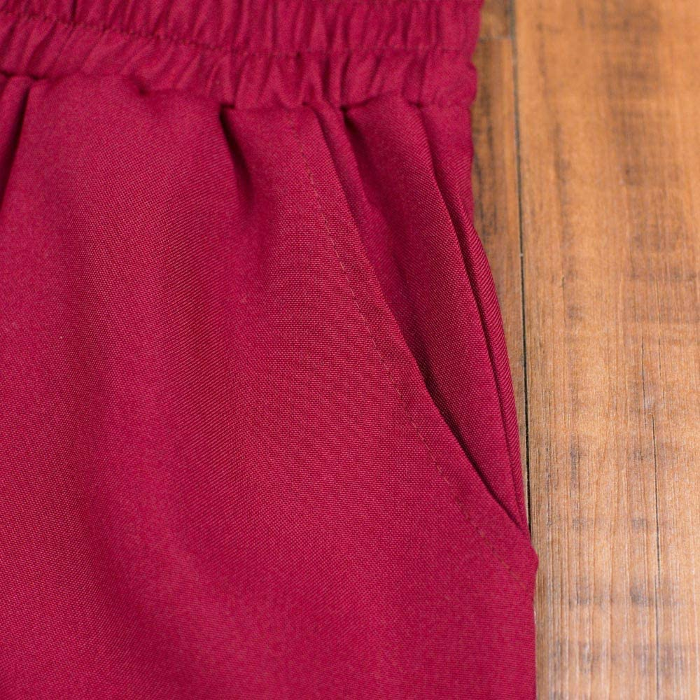 Muranba Clearance Women Loose Comfy Plus Size Elastic Waist Wide Leg Pants