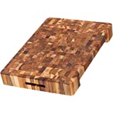 Teakhaus - Teak Cutting Board - Rectangle Board With Hand Grip & Juice Canal (16 x 12 x 2 in.)