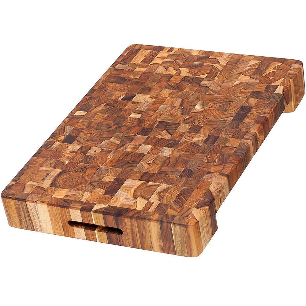 Teakhaus - Teak Cutting Board - Rectangle Board With Hand Grip & Juice Canal (16 x 12 x 2 in.) by Teakhaus