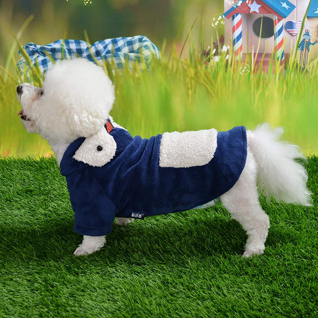 Bravetoshop Windproof Sweater for Dogs Winter Puppy Pet Clothes Soft Thickening Warm Pup Dogs Classic Cable Knit Pajamas