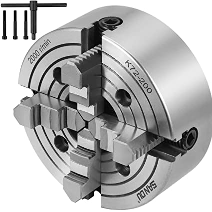 "K11-300 12/"" 3 Jaw Lathe Chuck Reversible Jaw Grinding Semi-steel Self-Centering"