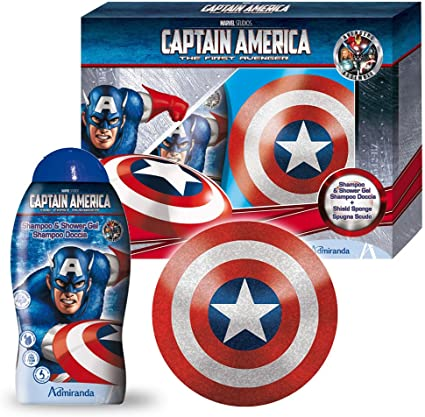 Marvel Beauty Gift Set Capitán América, 1er Pack (1 x 600g ...