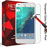 Google Pixel Tempered Glass Screen Protector Guard - NETBOON® Branded Tempered Glass HD Clarity, 9H Hardness, Ultra thin, Anti-Scratch Original Gorilla Glass Guard for Google Pixel
