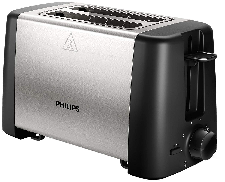 Philips Set de Desayuno - Tostadora Philips Daily Collection HD4825/90 (800 W, 2 ranuras, 1 plataforma para calentar y descongelar) + Philips Exprimidor ...