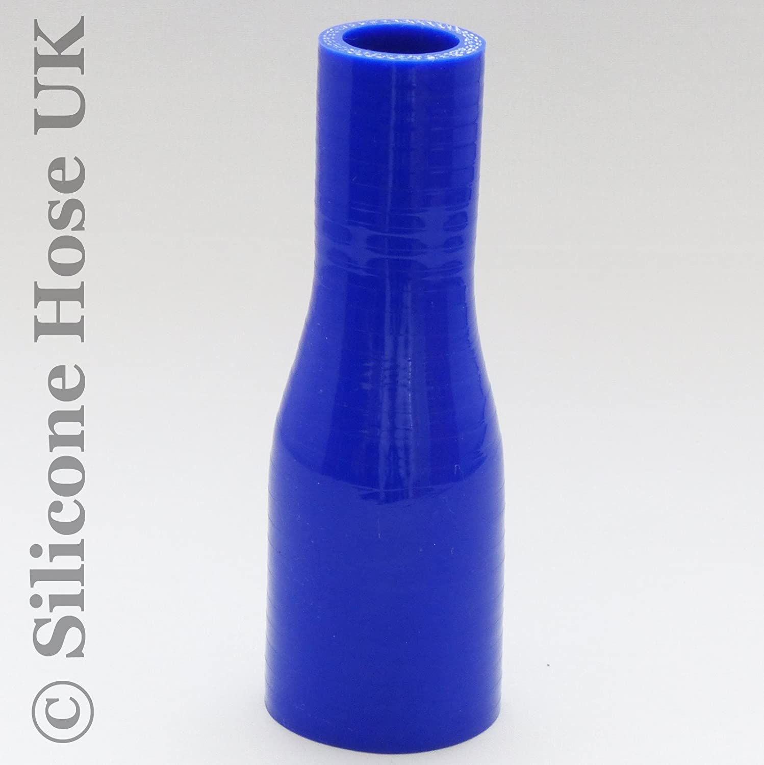 Blue 90mm  70mm Straight Reinforced Silicone Reducer Inlet Connector Hose for Air or Water ID