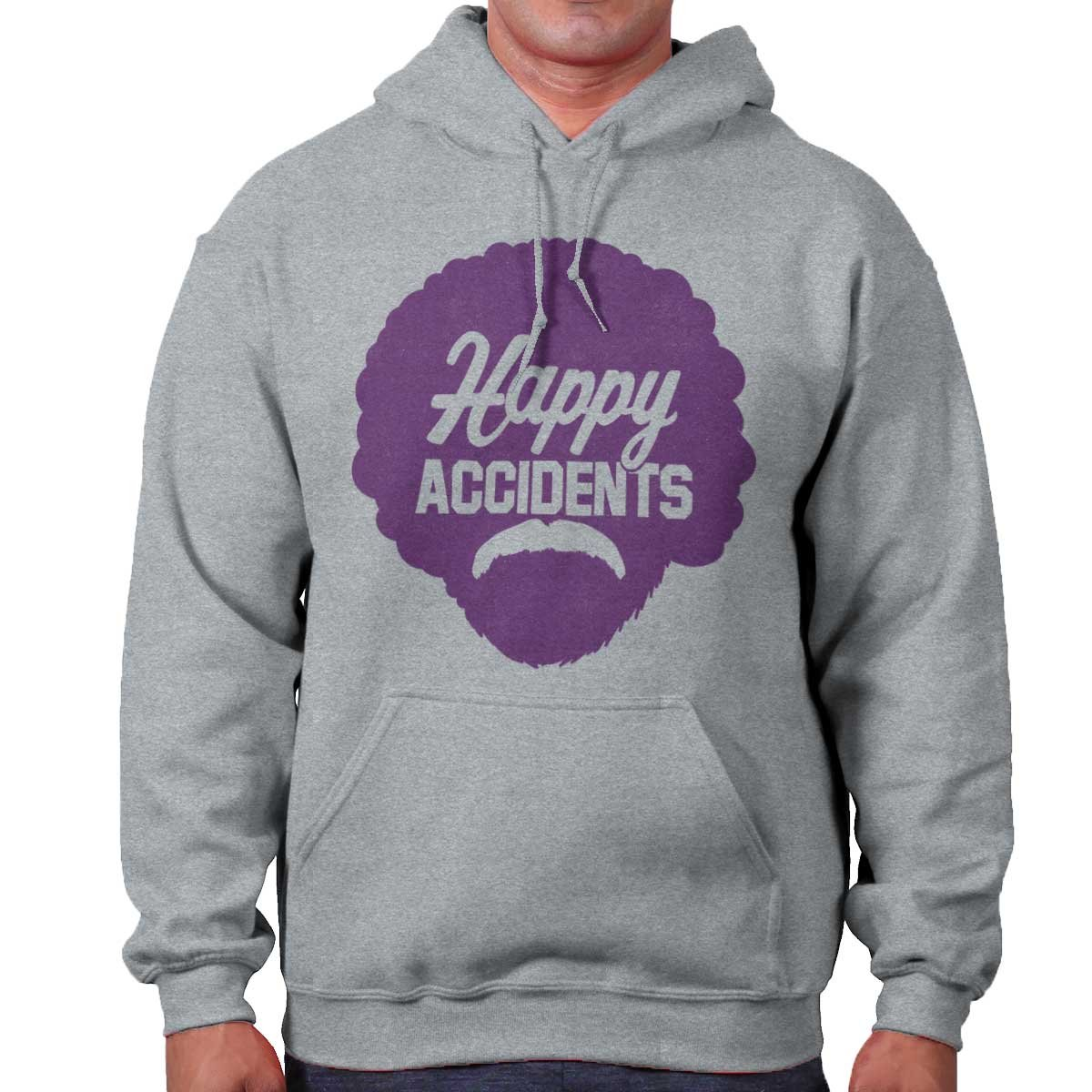 Brisco Brands Happy Accidents No Mistakes Bob Ross Joy of Painting Hoodie Sweatshirt by Brisco Brands (Image #1)