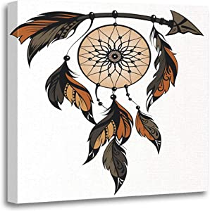Altuny Canvas Print Wall Art Painting Pictures Dream Catcher American Ancient Apache Arrow Cherokee 16x16 Inch Artwork Modern Decor for Living Room Bedroom Bathroom Great Gift