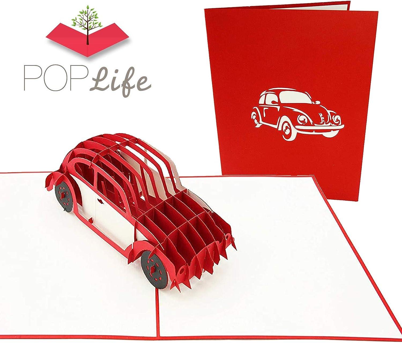 coche cobrable aniversario del trabajo feliz cumplea/ños retiro PopLife Cards Tarjeta de felicitaci/ón del d/ía de padres del error de VW bug para todas las ocasiones el d/ía de padre