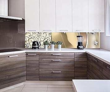 Küchenrückwand elegante Diamanten abstrakt Nischenrückwand ...