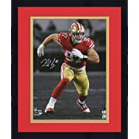 "$237 » Framed Nick Bosa San Francisco 49ers Autographed 16"" x 20"" Rush Spotlight Photograph - Autographed NFL Photos"