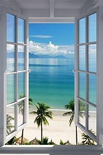 Merchandise 24/7 Beach Window Poster ... & Amazon.com: Phuket Ocean Scene Photography Door Poster Print 21 by ...