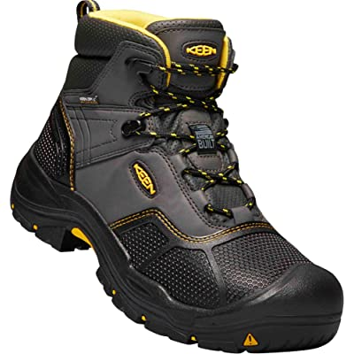 "KEEN New Men's Logandale 6"" WP Soft Toe Ankle Boot Raven/Black 9 EE 