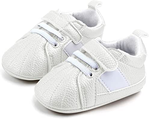 Unisex Baby Boys Girls PU Leather Sneakers Soft Sole ...