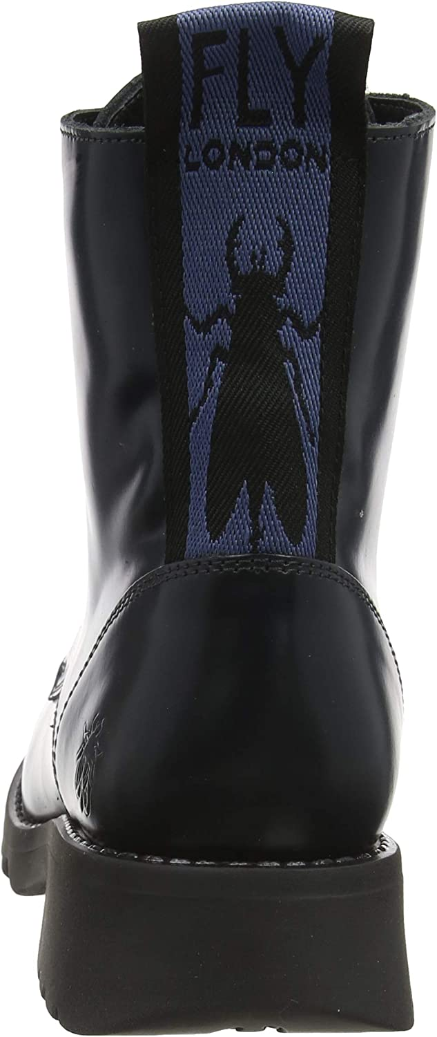 Fly London Damen Ragi539fly Kurzschaft Stiefel Blau Blue 002