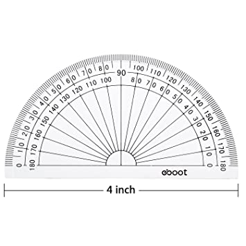 amazon eboot 50 pack math protractors plastic protractor 180 Honda 4 X 4 amazon eboot 50 pack math protractors plastic protractor 180 degrees 4 inches clear office products