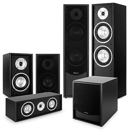 auna Black Line 5.1 Sistema de Sonido HiFi Home Cinema ...