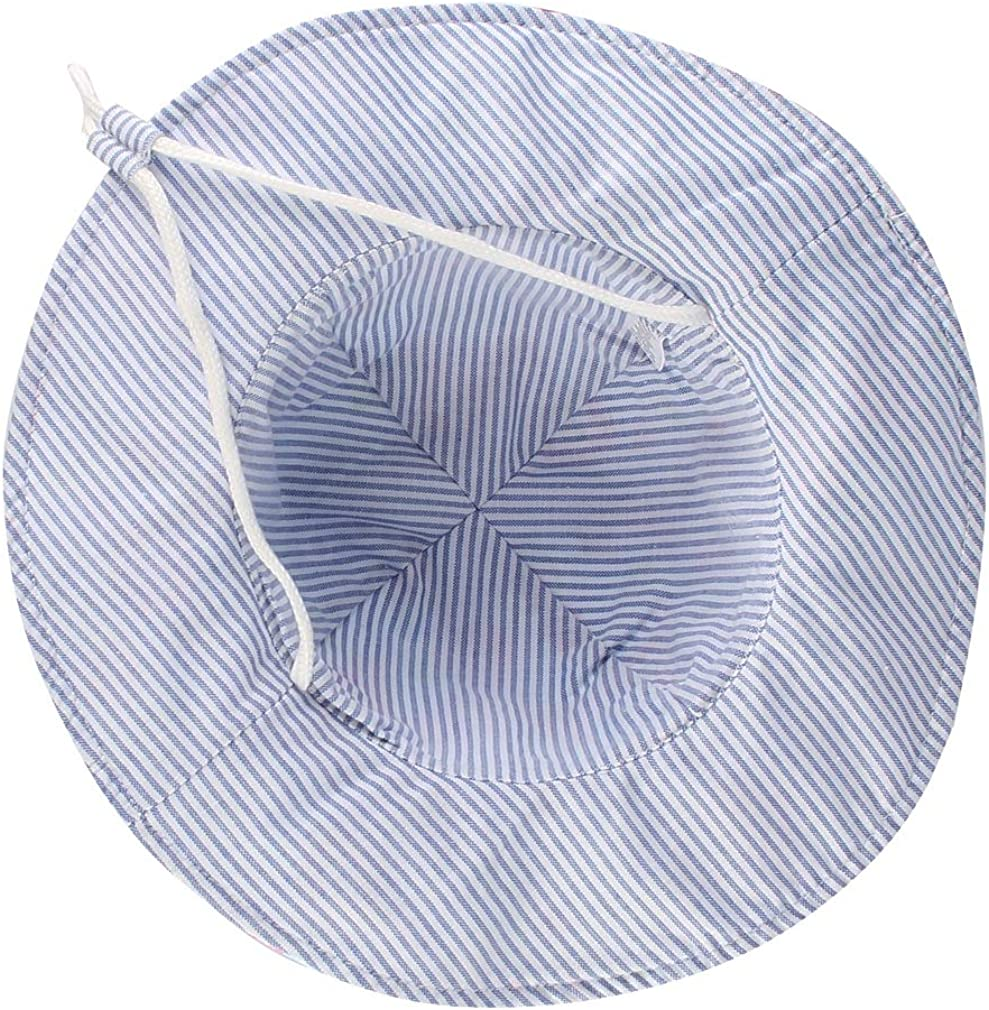 Lukis Chapeau Bob Enfant B/éb/é Anti-UV Chapeau de Soleil Imprim/é Animaux en Coton Pliable Mixte pour /Ét/é Printemps Plage P/êche Voyage