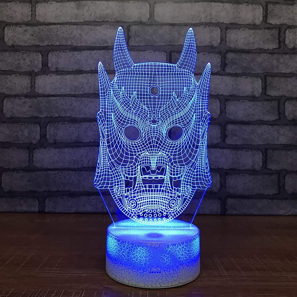 Tywwan Máscara 3d Nocturnas De Luces Halloween QsCBdhrtx