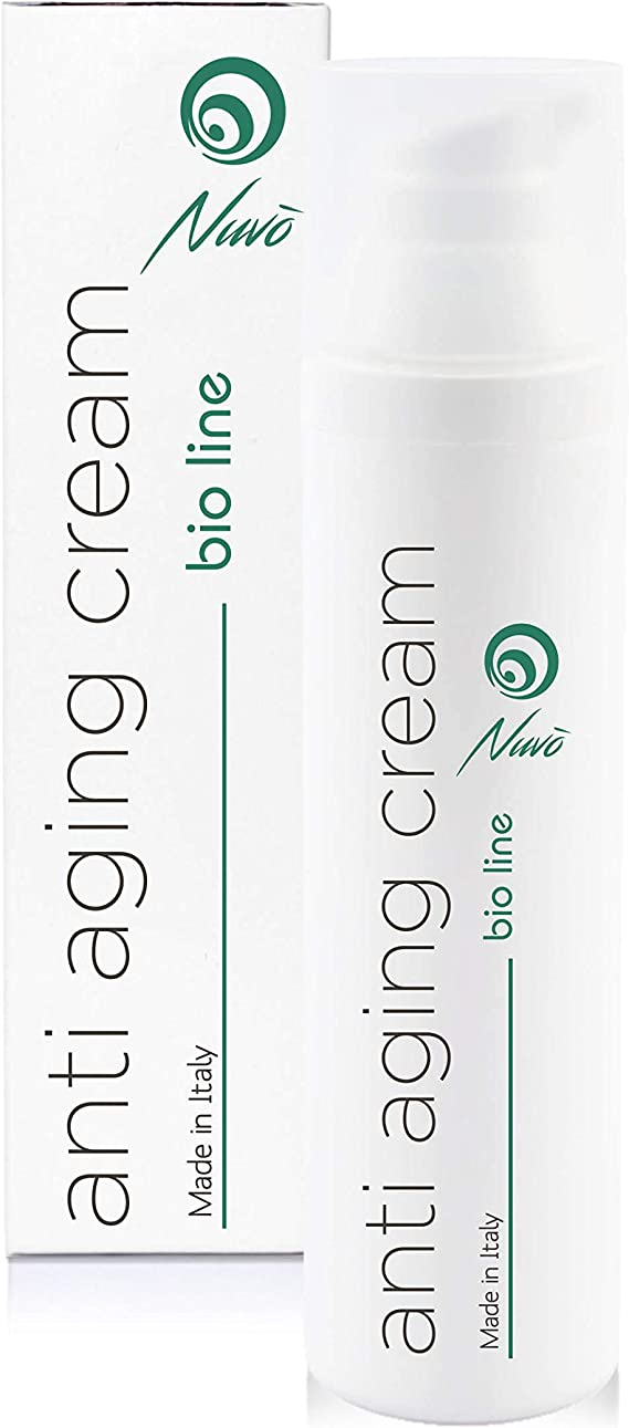 Nuvo Crema Antiarrugas de Baba de Caracol Facial Hidratante y Antiedad - Orgánica Certificada AIAB - Maxi 75ml Acido Hialuronico Aceite de Argán 100% ...