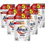 【ケース販売】アタック ZERO(ゼロ) 洗濯洗剤 液体 詰め替え 大容量 1800g(約5倍分)×6個(衣類よみがえる「ゼロ洗浄」へ)
