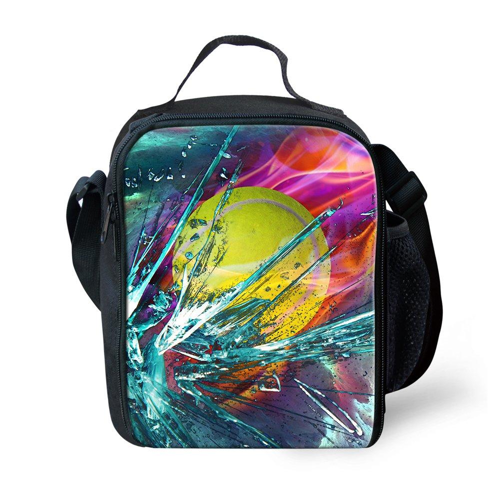 591e22fec2ac Coloranimal Fashion 3D Tennis Printed Insulated Children's Lunch Bags Tote  Purse