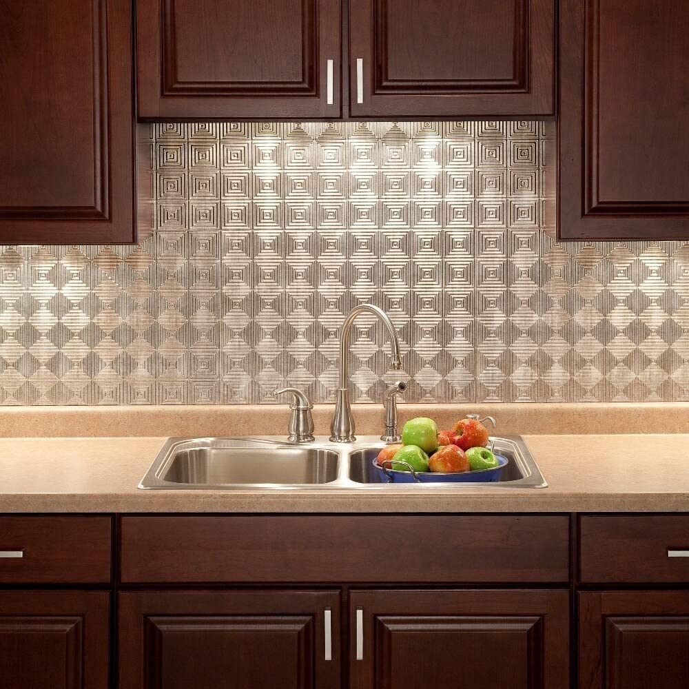 - Amazon.com: MISC Crosshatch Silver 18-Square Foot Backsplash Kit