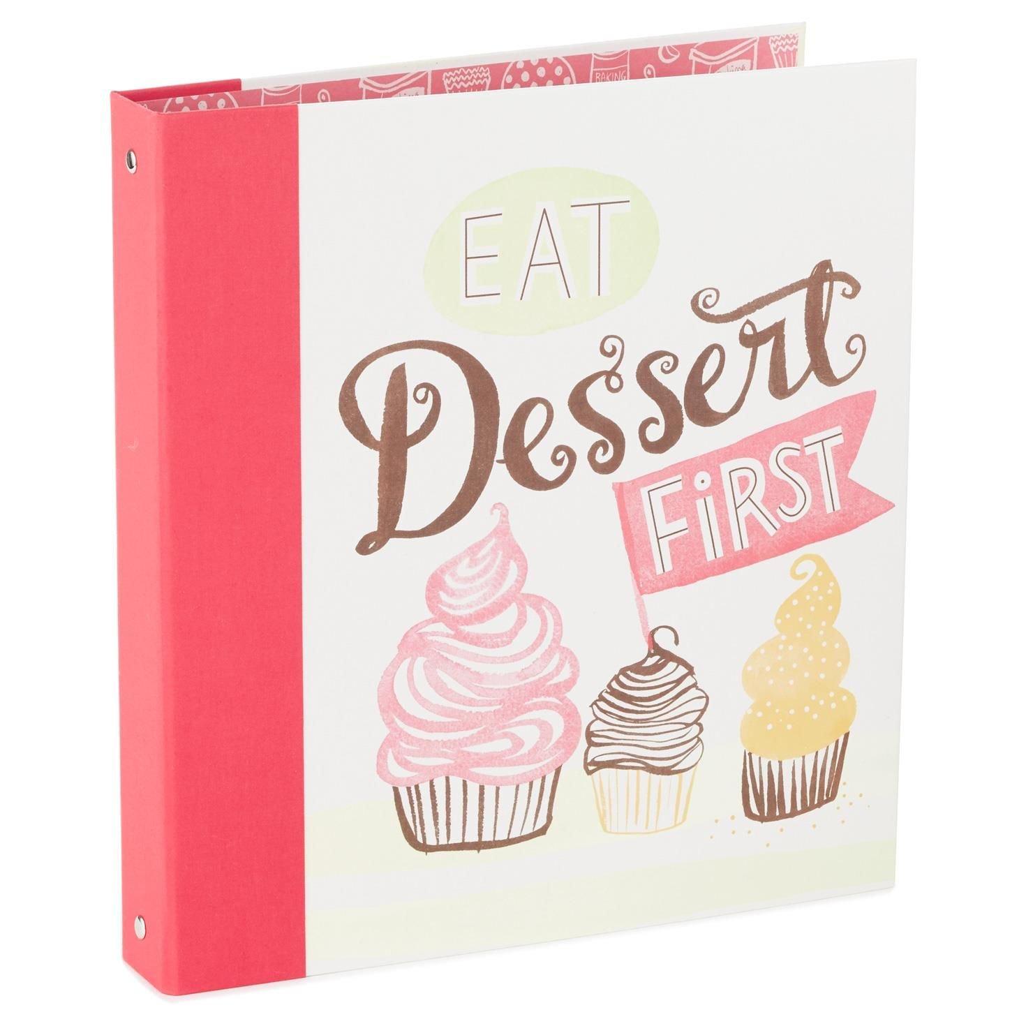 Hallmark Eat Dessert First Recipe Organizer by Hallmark