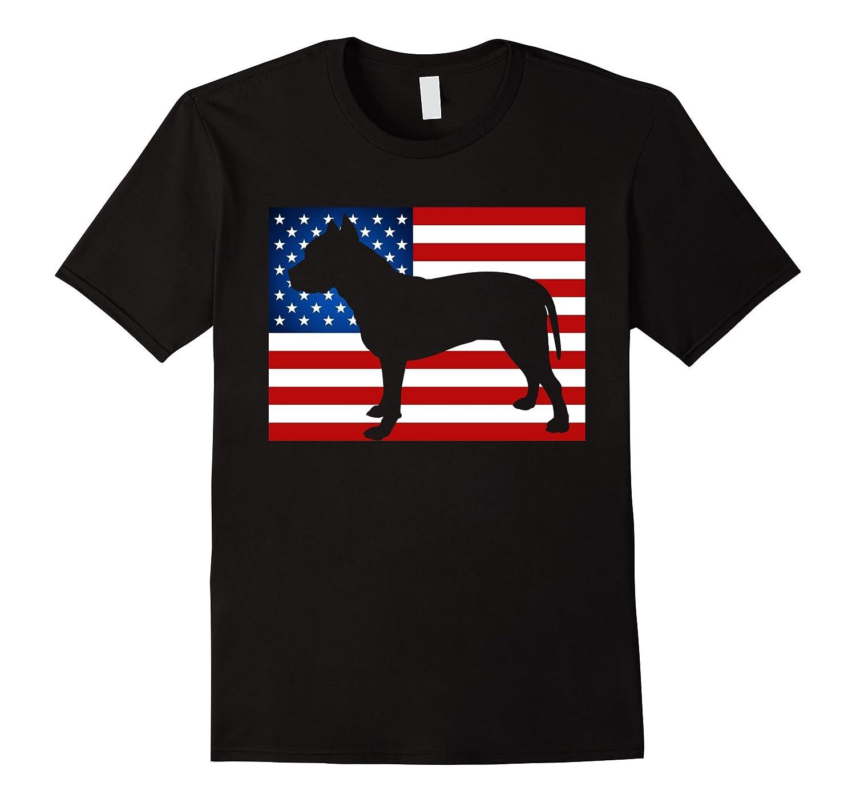 American Pit Bull Patriotic USA Flag Pitbull T-Shirt-Art