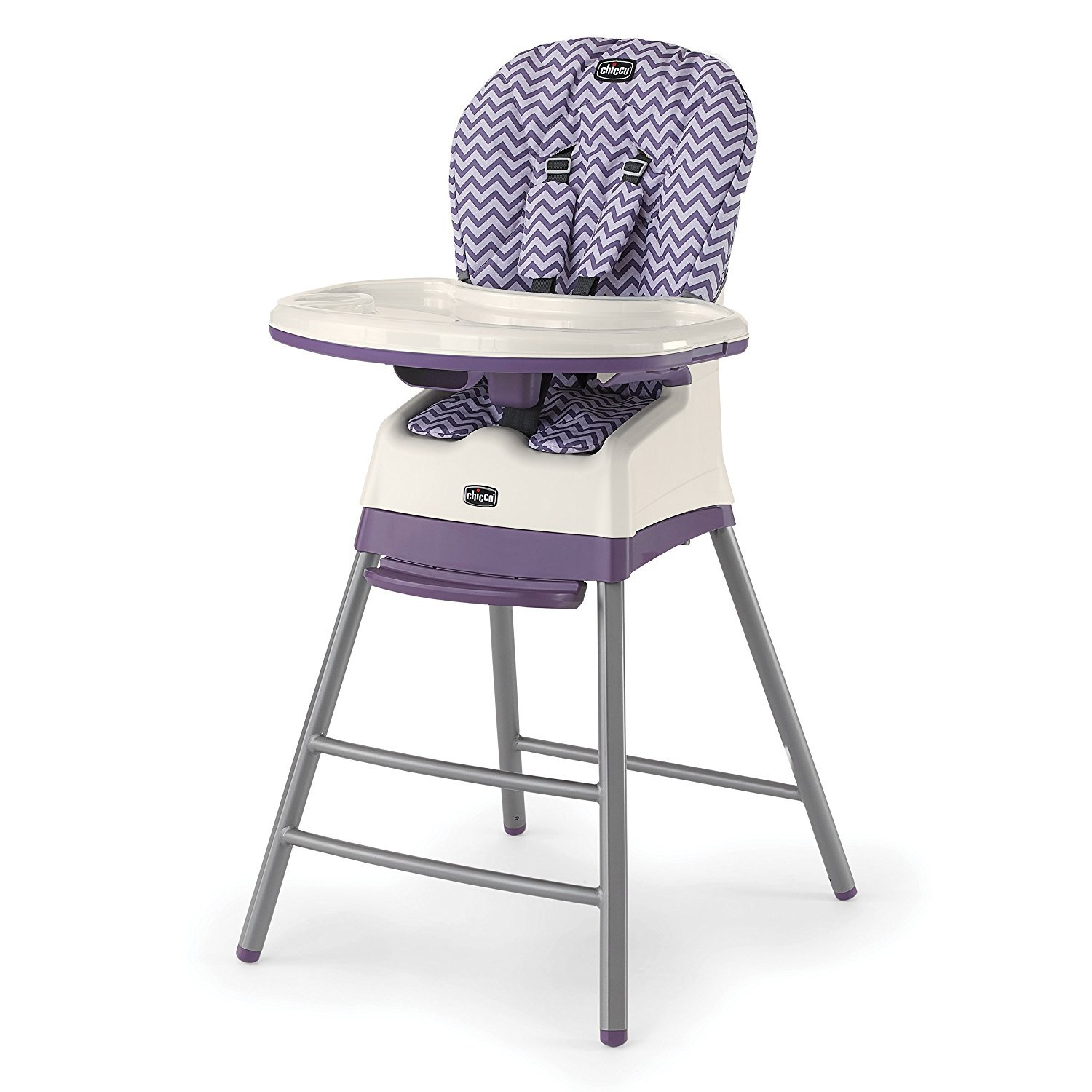 Chicco Stack 3-in-1 Multi-Stage Adjustable Portable Highchair Booster, Mulberry