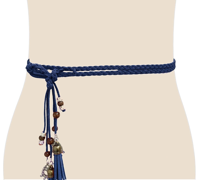 Cintura in vita da donna esotica Corda Catena con nappa e perline