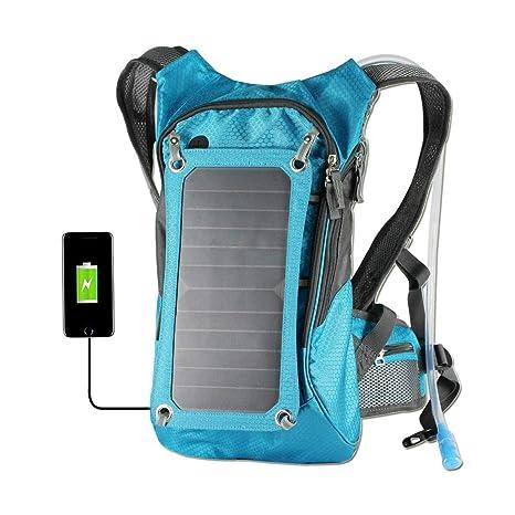 WishY Cargador Solar Mochilas 7W Paneles Solares, Bolsa De ...
