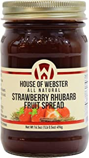 product image for House of Webster Strawberry Rhubarb Fruit Spread - 16.5 oz